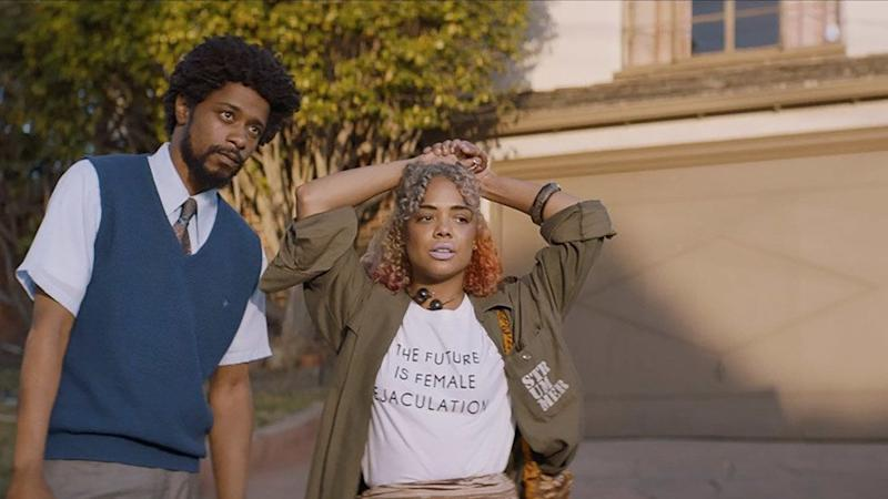 """We could build an entire cultural&nbsp;discussion around&nbsp;Danny Glover's career advice for Lakeith Stanfield in """"Sorry to Bother You"""": As a telemarketer, you're better advantaged if you disguise your voice to sound white -- but not """"Will Smith white."""" (Fun side note: Sundance juror Jada Pinkett Smith was in the audience at the premiere. Quick, someone ask what she texted her husband afterward.) But that counsel only skims the surface of this rowdy, surreal comedy about an Oakland&nbsp;20-something&nbsp;hawking a wellness program that, come to find out, doubles as an elaborate slave-labor ploy. <br /><br />With a character name like Cassius Green, an artist-activist girlfriend played by Tessa Thompson (just wait till you see her statement earrings) and a coke-guzzling boss (Armie Hammer!) who demands Cassius freestyle at a party, Stanfield and writer-director Boots Riley have conceived a character torn between wokeness, economic gain and a very human&nbsp;urge to keep the peace. But as events grow increasingly bizarre --&nbsp;have you ever seen a horse-man penis?&nbsp;-- the movie also finds a soulfulness, resonating ever more strongly as it threatens to fly off the rails. Merrill Garbus of<strong>&nbsp;</strong>Tune-Yards fame wrote the score, so imagine an effervescent joyride in which corporate greed, racist stereotypes and palatial orgies make cameos. -- <i>Matthew Jacobs</i>"""