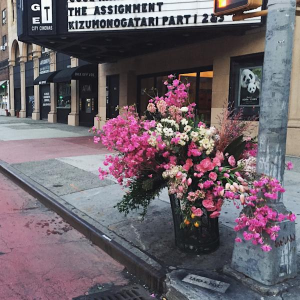 Meet the florist who has been committing random acts of flowers in New York's public spaces.