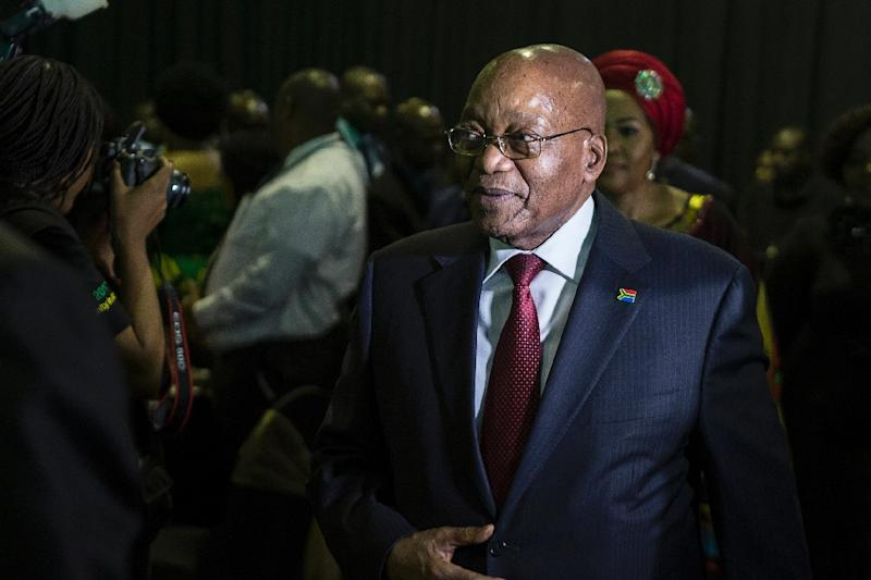 Clinging to power but for how much longer? Analysts say South Africa's Jacob Zuma could be ousted over the weekend (AFP Photo/WIKUS DE WET)
