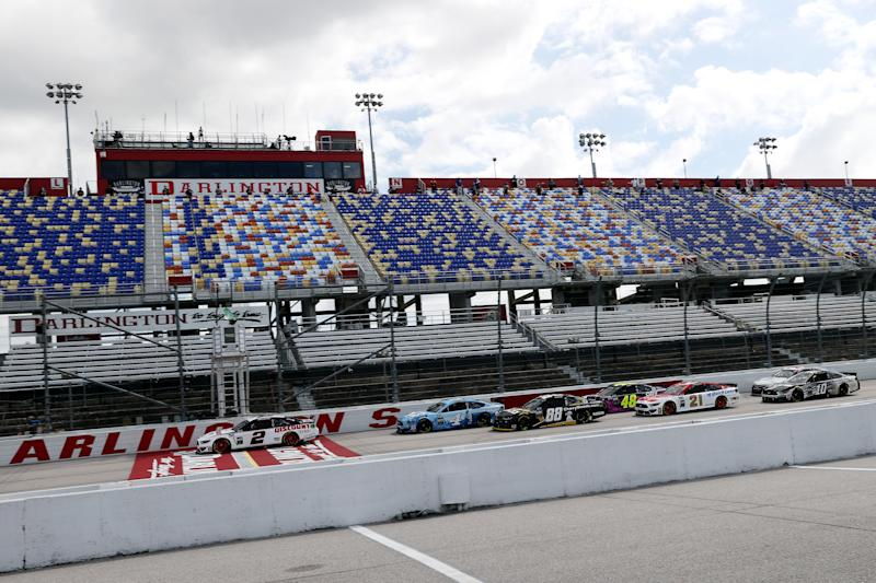 NASCAR returned to action at Darlington Speedway, with no fans in attendance. (Chris Graythen/Getty Images)