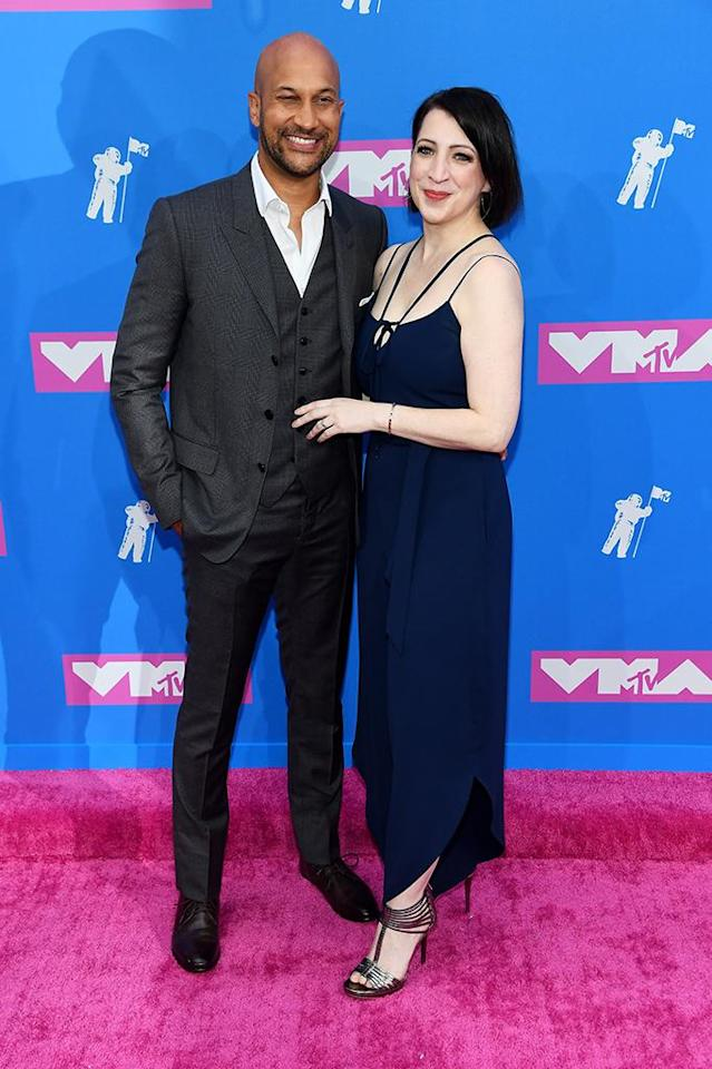 <p>Keegan-Michael Key and Elisa Pugliese attend the 2018 MTV Video Music Awards at Radio City Music Hall on August 20, 2018 in New York City. (Photo: Nicholas Hunt/Getty Images for MTV) </p>