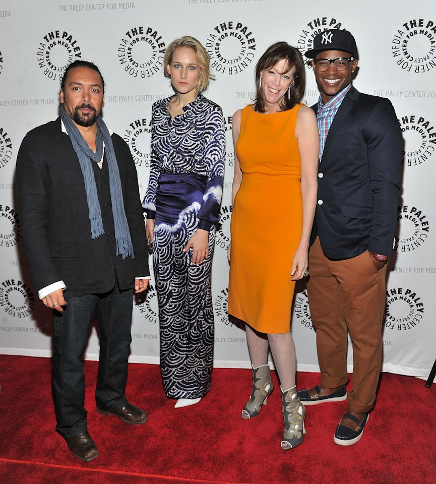 """NEW YORK, NY - APRIL 12:  (L-R) Actors Felix Solis, Leelee Sobieski, Executive producer Jane Rosenthal, and Harold House Moore attend The Paley Center For Media Presents New York Premiere Of """"NYC 22"""" at Paley Center For Media on April 12, 2012 in New York City.  (Photo by Mike Coppola/Getty Images)"""