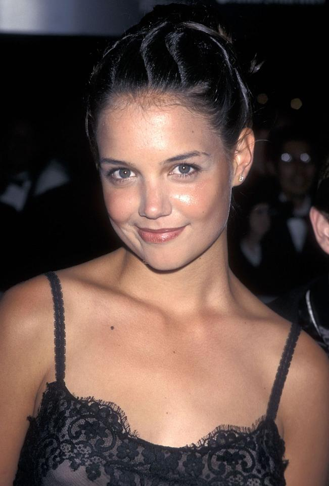 <p>In her early <em>Dawson's Creek</em> days, Katie experimented with funky, twisty updos on the red carpet. <em></em></p>