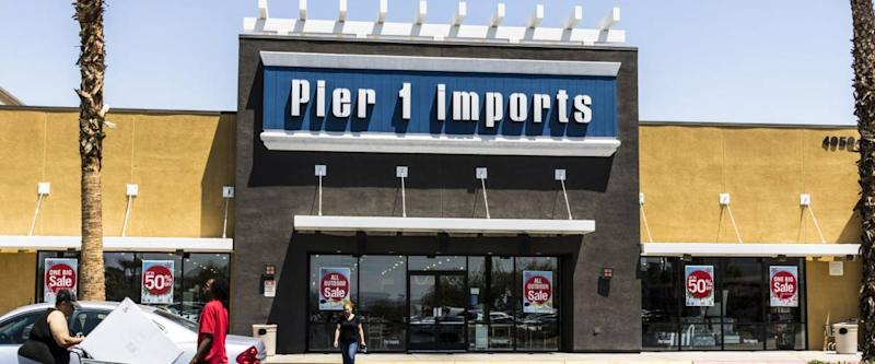 Las Vegas - Circa July 2017: Pier 1 Imports Retail Strip Mall Location. Pier 1 Imports Home Furnishings and Decor V