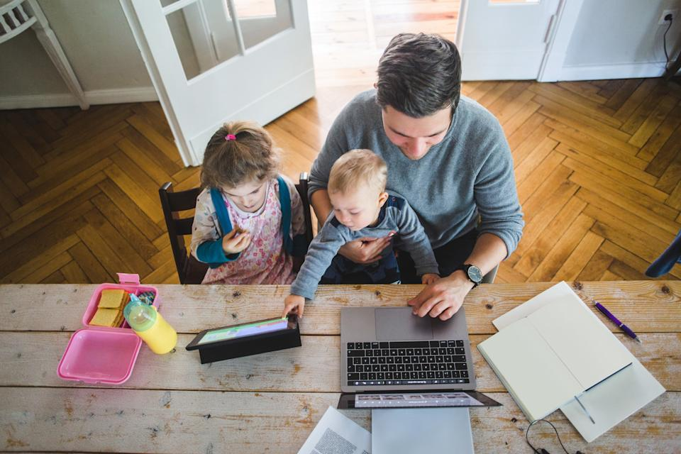WFH while also looking after children is tricky. (Getty Images)