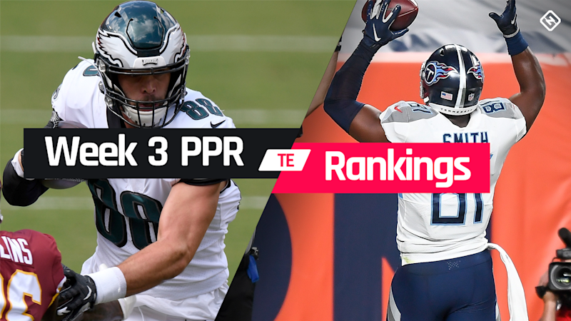 Week 3 Fantasy TE PPR Rankings: Must-starts, sleepers, potential busts at tight end