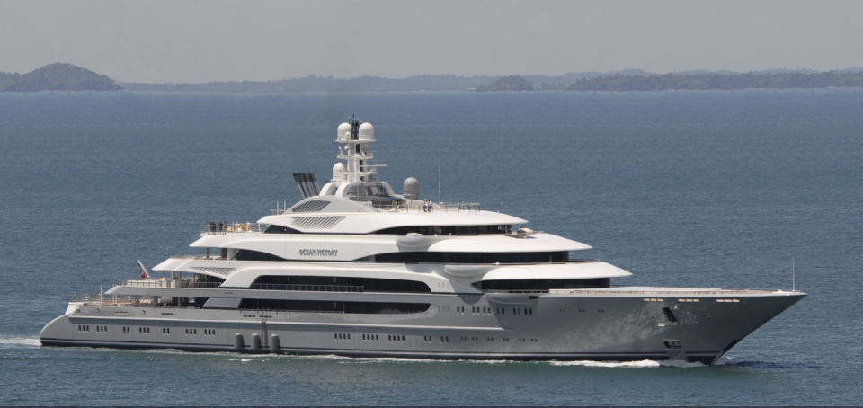 <p><em>Ocean Victory</em> was built in 2014 by Fincantieri and is owned by Russian billionaire Viktor Rashnikov. It holds 26 guests and 50 crew. Notable amenities include six pools, a beach club, and an underwater observation room. </p><p>Little is known about the interiors of this ship, except that it was designed by Alberto Pinto and Laura Sessa Romboli, so you know it has to be absolutely fabulous.</p>