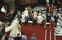 """<p>Also in 1981, Prince Charles <a href=""""https://www.goodhousekeeping.com/life/entertainment/a33873/princess-diana-prince-charles-wedding-rare-candid-photos/"""" rel=""""nofollow noopener"""" target=""""_blank"""" data-ylk=""""slk:married Lady Diana Spencer"""" class=""""link rapid-noclick-resp"""">married Lady Diana Spencer</a>. Though the famous couple was having relationship problems prior to the wedding, Philip urged his son to make the decision to reconcile and marry or to end the relationship. Charles then chose to marry Diana.</p>"""