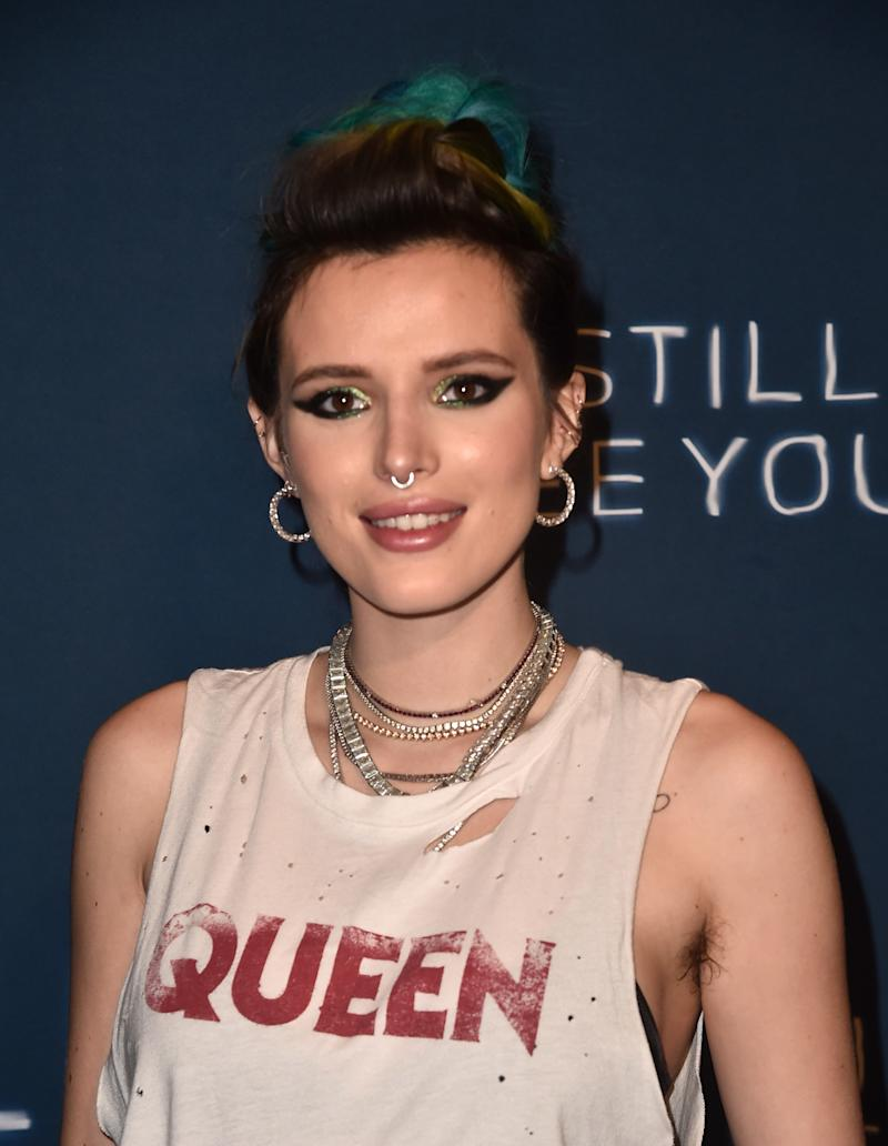 "SHERMAN OAKS, CA - OCTOBER 02: Bella Thorne attends the Collider Special Screening of Lionsgate's ""I Still See You"" at ArcLight Sherman Oaks on October 2, 2018 in Sherman Oaks, California. (Photo by Alberto E. Rodriguez/Getty Images)"