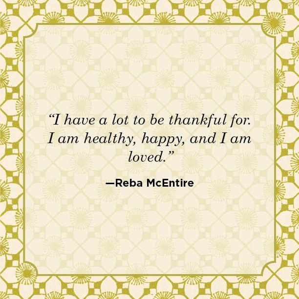 """<p>""""I have a lot to be thanksful for. I am healthy, happy, and I am loved.""""</p>"""