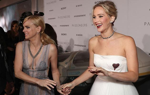 Fans noted the awkward exchange between Anna and Jen at the premiere. Source: Getty