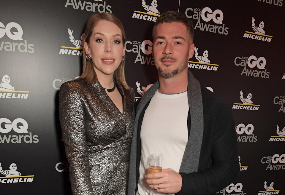 LONDON, ENGLAND - FEBRUARY 03:  Katherine Ryan and Bobby Kootstra attend the GQ Car Awards 2020 in assoociation with Michelin at the Corinthia Hotel London on February 3, 2020 in London, England.  (Photo by David M. Benett/Dave Benett/Getty Images)