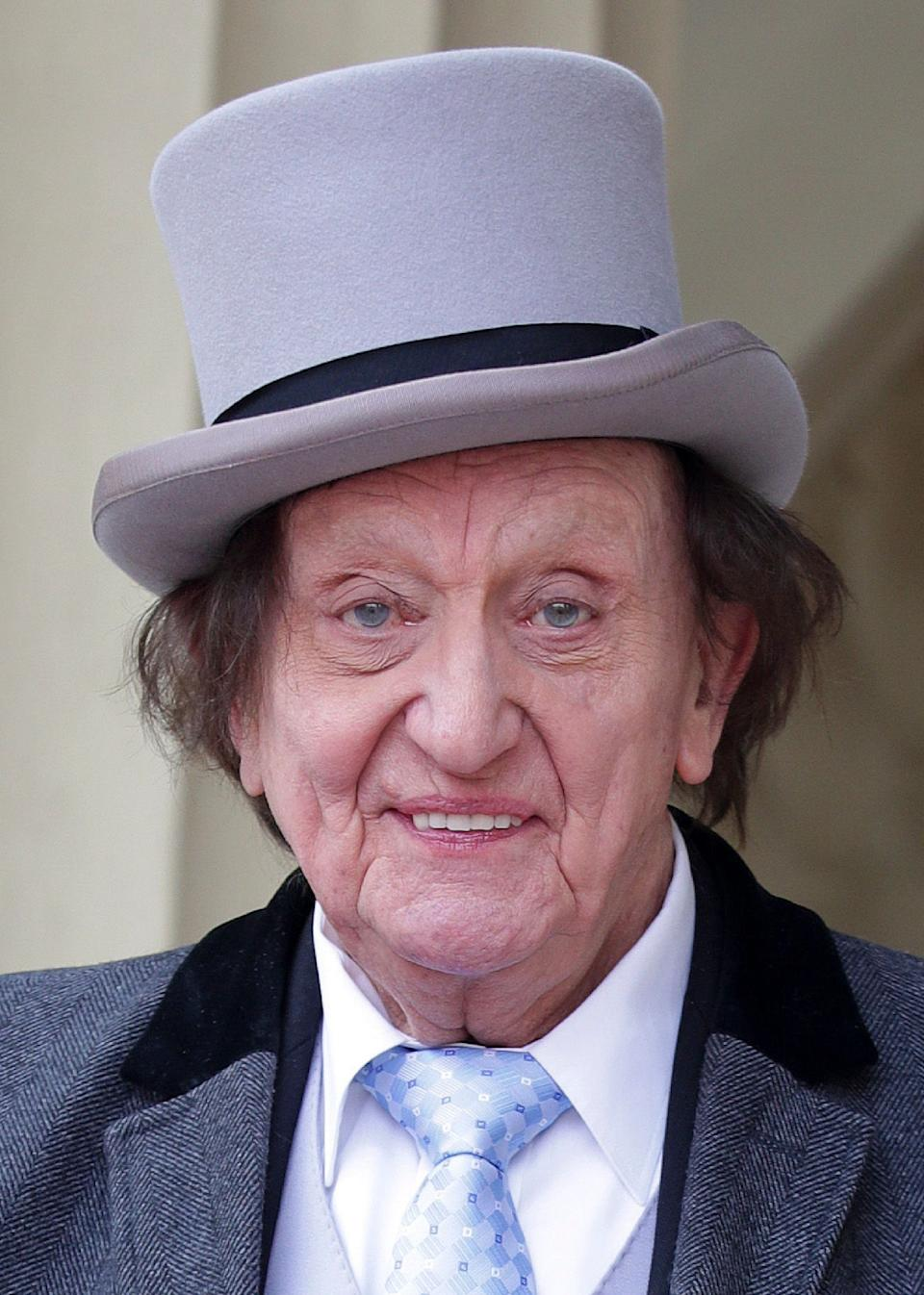"""<strong>Ken Dodd</strong><br /><strong>Comedian and Entertainer(b. 1927)</strong><br /><br />The National Treasure, famous for his epic stand-up shows, as well as his Diddy Men and tickling stick, <a href=""""http://www.huffingtonpost.co.uk/entry/ken-dodd-dead_uk_5aa5d78fe4b07047bec7c405"""">died just days after leaving hospital</a>. He married Anne Jones, his partner of 40 years,just two days before he passed away."""