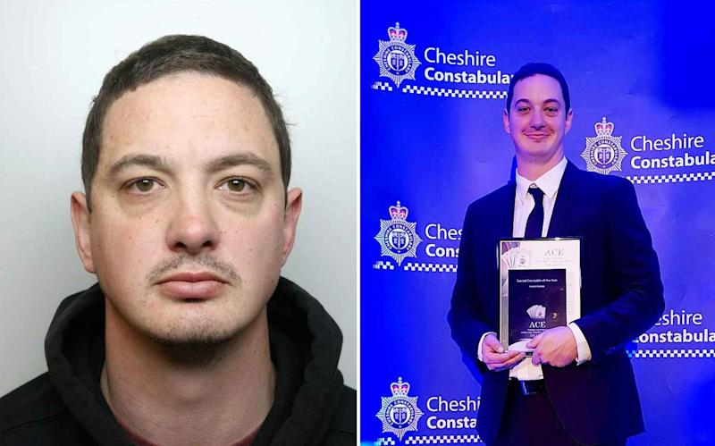 Special constable Daniel Glassey bombarded the women with abuse as part of a two-year campaign of controlling behaviour, Cheshire Crown Court (SWNS)