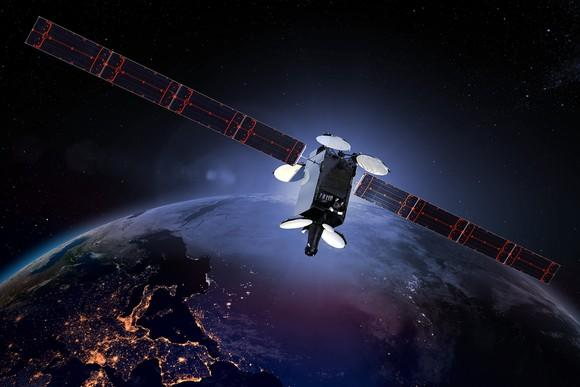 An Intelsat satellite.