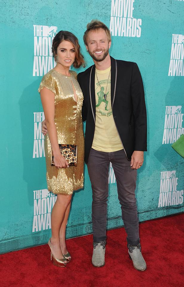 Nikki Reed and Paul MacDonald arrive at the 2012 MTV Movie Awards.