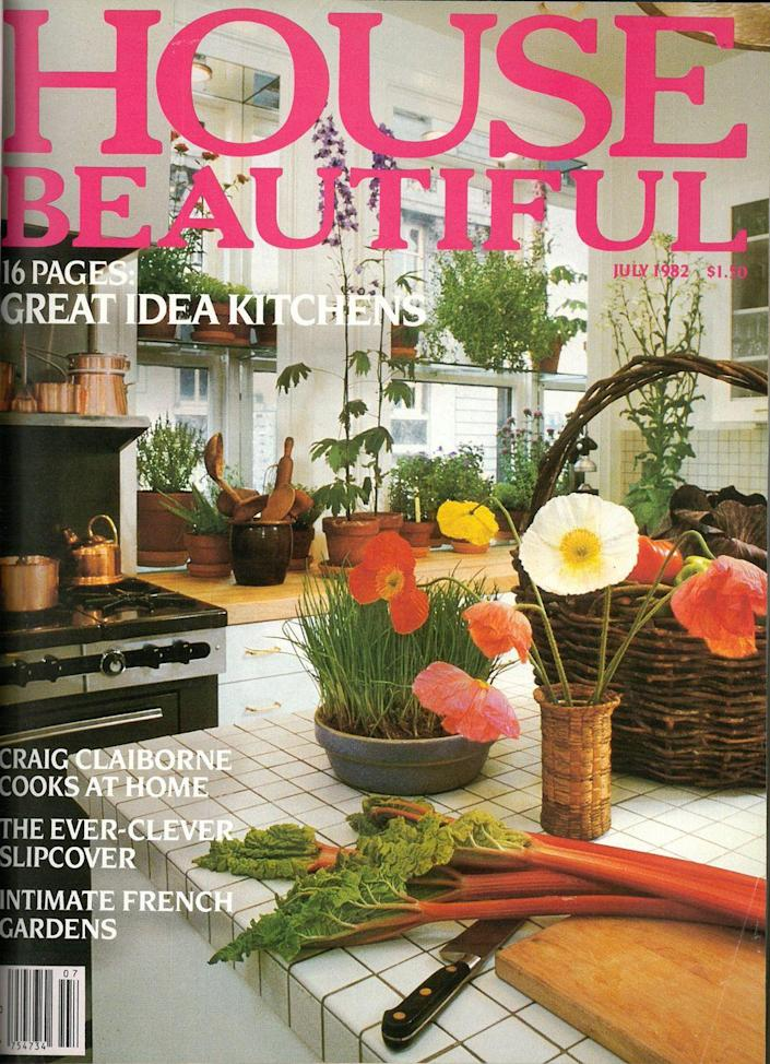 <p>Sixteen pages of great idea kitchens in the 1982 issue of <em>House Beautiful. </em></p>