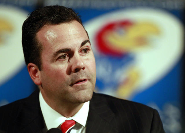 Kansas athletic director Sheahon Zenger was fired on Monday. (AP Photo/Orlin Wagner File)