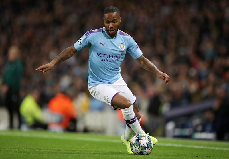 Soccer Football - Champions League - Group C - Manchester City v GNK Dinamo Zagreb - Etihad Stadium, Manchester, Britain - October 1, 2019 Manchester City's Raheem Sterling in action Action Images via Reuters/Carl Recine