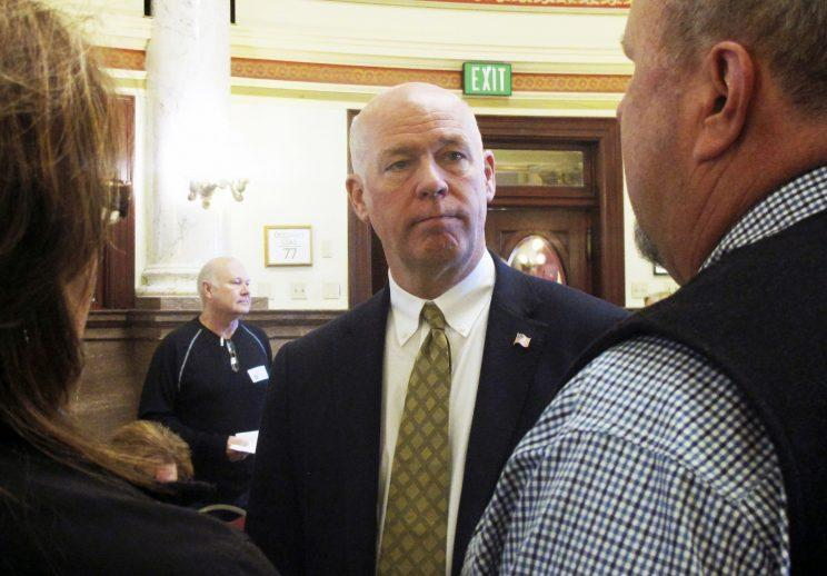 In this March 6, 2017 file photo, technology entrepreneur Greg Gianforte speaks to Republican delegates before a candidate forum in Helena, Mont. (Photo: Matt Volz/AP)