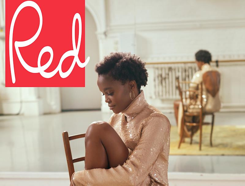 Oti Mabuse has showed off her natural hair on the cover of Red magazine (Chloe Mallett/Hearst)