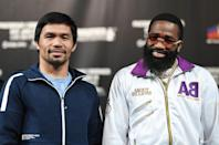 """<p>Since May 2016, Pacquiao has served as a <a href=""""https://www.scmp.com/sport/boxing/article/2181543/manny-pacquiao-philippines-president-boxing-icon-plays-down-succeeding"""" rel=""""nofollow noopener"""" target=""""_blank"""" data-ylk=""""slk:senator in the Philippines"""" class=""""link rapid-noclick-resp"""">senator in the Philippines</a> and the world champion boxer may have his sights set on president of the Philippines in 2022—in fact, he already has the support of current president, Rodrigo Duterte. """"I told him when we were alone, I want him to become president,"""" <a href=""""https://www.scmp.com/sport/boxing/article/2181543/manny-pacquiao-philippines-president-boxing-icon-plays-down-succeeding"""" rel=""""nofollow noopener"""" target=""""_blank"""" data-ylk=""""slk:Duterte reportedly said"""" class=""""link rapid-noclick-resp"""">Duterte reportedly said</a> at the boxer's 39th birthday party in 2017. </p>"""