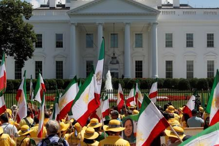 Activists hold Iranian resistance rally outside the White House in Washington