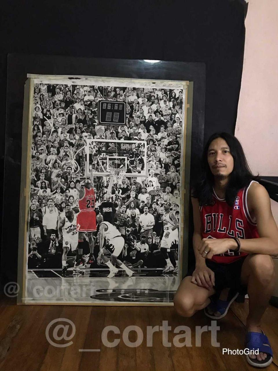 Filipino artist Christian Oliver Talampas and his