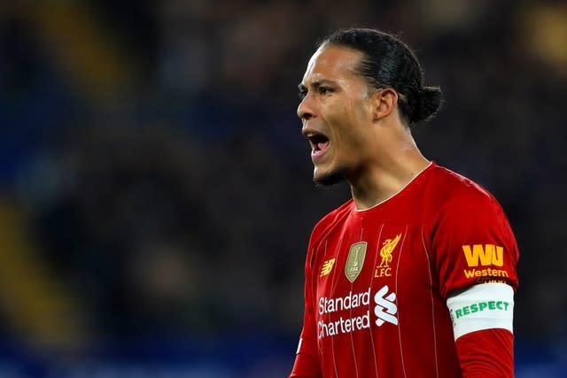 Virgil Van Dijk would be 'gutted' for the fans if Liverpool win the Premier League title behind closed doors (Mike Egerton/PA)