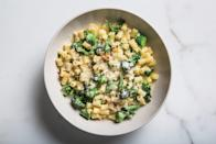 """The combination of salty water and salty Parmesan puts this pasta at risk of becoming oversalted. If that happens, throw in a knob of unsalted butter at the end to mellow it and add a smooth finish. <a href=""""https://www.epicurious.com/recipes/food/views/salt-as-you-go-pasta?mbid=synd_yahoo_rss"""" rel=""""nofollow noopener"""" target=""""_blank"""" data-ylk=""""slk:See recipe."""" class=""""link rapid-noclick-resp"""">See recipe.</a>"""