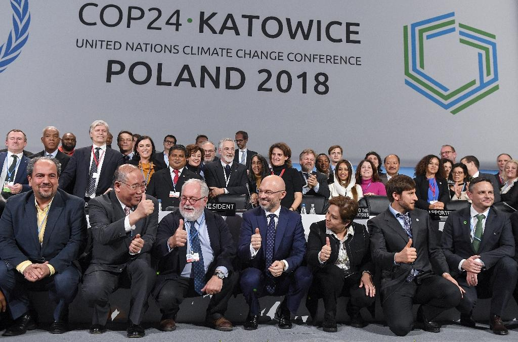 Representatives of nearly 200 nations have been holding talks at the UN's COP24 summit in the Polish mining city of Katowice (AFP Photo/Janek SKARZYNSKI)