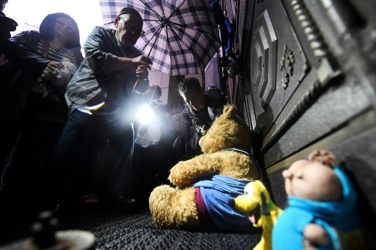 Hundreds of people, many clutching stuffed toys, rallied in Moscow to demand the release of Anna Pavlikova, 18, and Maria Dubovik, 19, on Wednesday