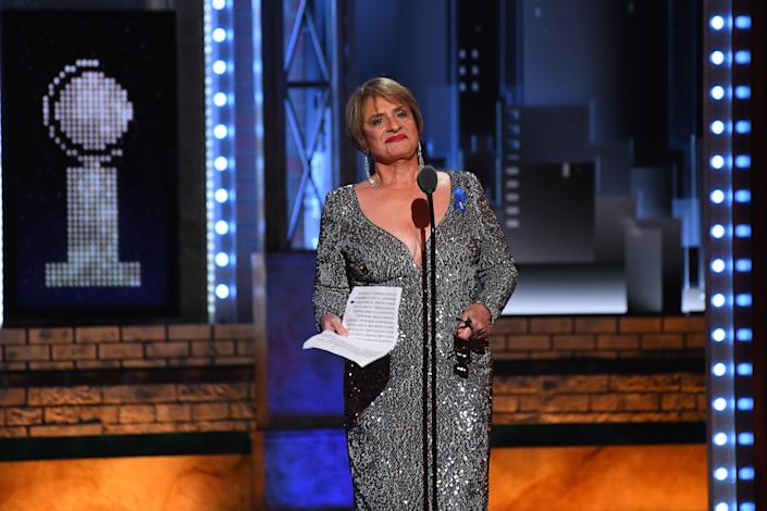 Patti LuPone appears on stage.