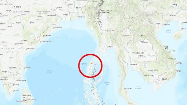 The 5.1 magnitude earthquake hit Andaman Islands region at around 5 pm today.