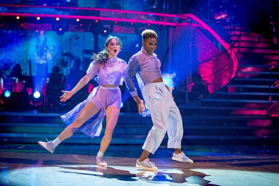 Nicola Adams and Katya Jones were forced out of the competition after the professional dancer tested positive for coronavirus (Photo: BBC)