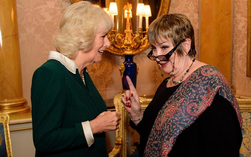 Dame Jenni meeting the Duchess of Cornwall at a reception at Buckingham Palace in December last tear  - Credit: PA