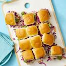 """<p>If you have some leftover pulled pork, consider making them into an insanely delicious after-school snack by adding them to some slider buns. Load them up with delicious veggies to keep things healthy, or try out some lettuce buns for your more adventurous eaters.</p><p><em> <a href=""""https://www.womansday.com/food-recipes/food-drinks/a27483675/hawaiian-pork-pull-apart-rolls-recipe/"""" rel=""""nofollow noopener"""" target=""""_blank"""" data-ylk=""""slk:Get the Hawaiian Pork Pull-Apart Rolls recipe"""" class=""""link rapid-noclick-resp"""">Get the Hawaiian Pork Pull-Apart Rolls recipe</a>.</em></p>"""