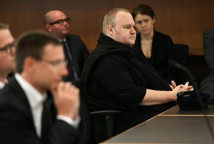 Dotcom had asked the court to overturn two previous rulings that the Megaupload founder and his three co-accused be sent to the United States to face charges (AFP Photo/MICHAEL BRADLEY)
