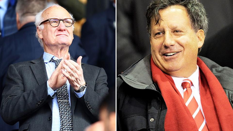 Pictured here, club executives Bruce Buck from Chelsea and Liverpool's Tom Werner.