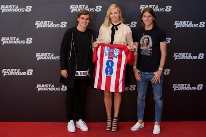 charlize theron, antoine griezmann, fate of the furious
