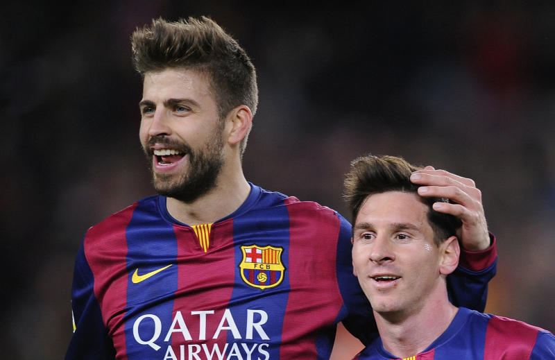 Gerard Piqué had his teammate's back ahead of a matchup against Maradona's former team. (AP Photo/Manu Fernandez)