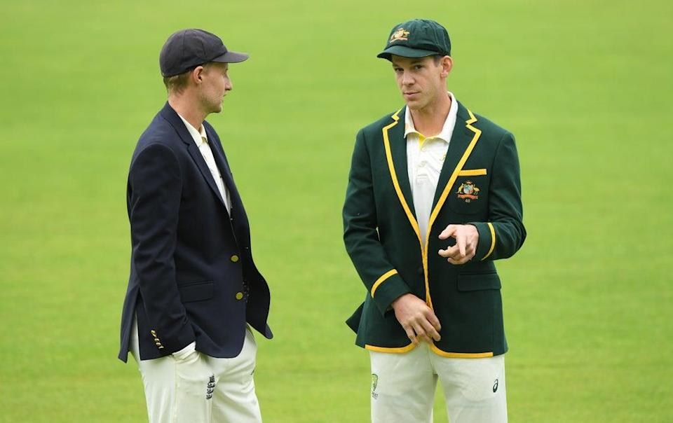 The Ashes series featuring England's Joe Root (left) and Australia's Tim Paine is in the balance  (Getty)