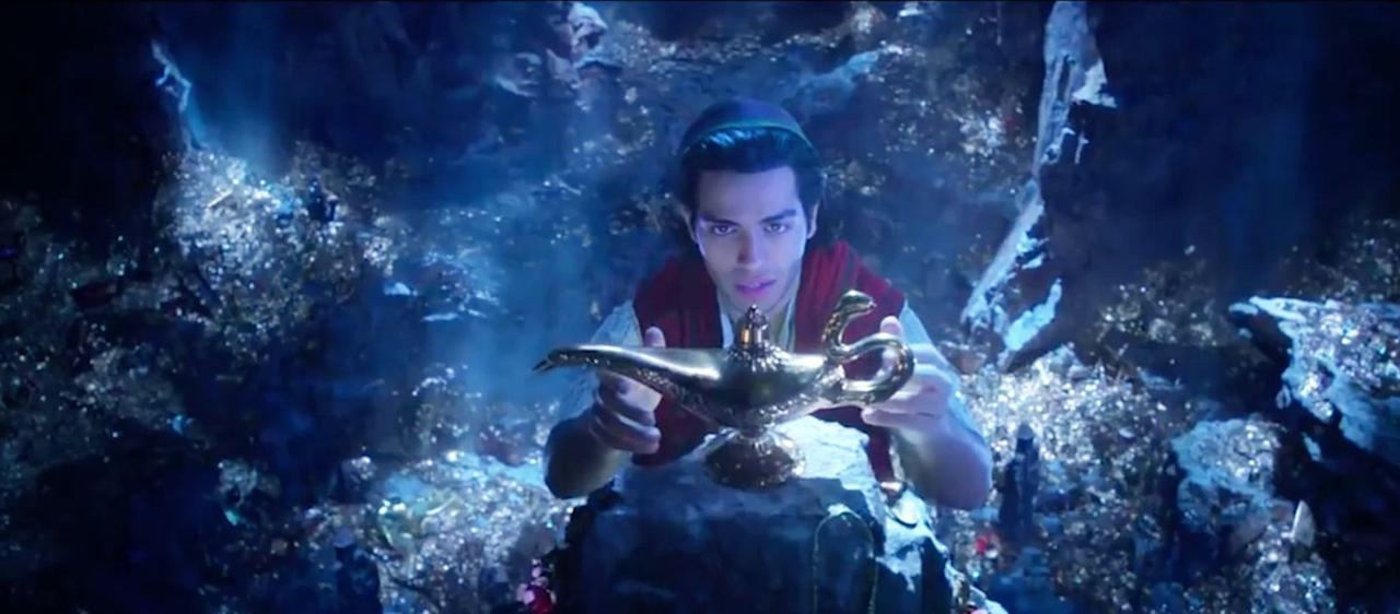 <p>Relative newcomers, Mena Massoud and Naomi Scott, enter a whole new world in this retelling of the Arabian-Disney classic. Will Smith inhabits the magic lamp as Genie in the Guy Ritchie-directed adventure.</p>