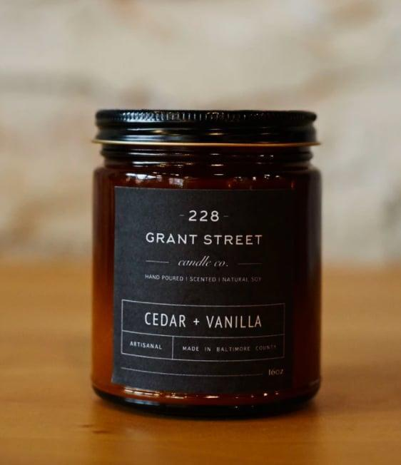 <p>You may not have a fireplace in your home office for those colder autumn days, but you can have <span>228 Grant Street Candle Co.'s Cedar + Vanilla Candle</span> ($21). Made with a natural hand-poured soy wax, cotton wick, and premium-grade fragrance oils (cedar, vanilla, oak, and patchouli!), this candle happens to be free of dyes and chemicals, too. Let the earthy, rich smell calm you even on your busiest days.</p>