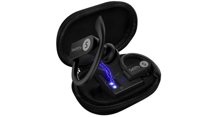 Upgrade Bluetooth Earbuds 5.0 Bluetooth Headphones with Charging Case (Photo: Amazon)
