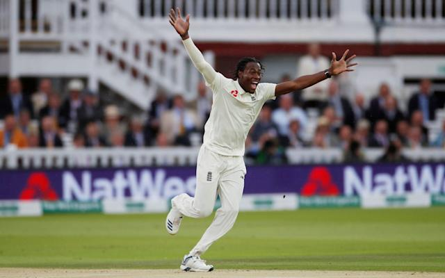 Jofra Archer bowled the fastest spell by an Englishman in a Test since 2013 - Action Images via Reuters