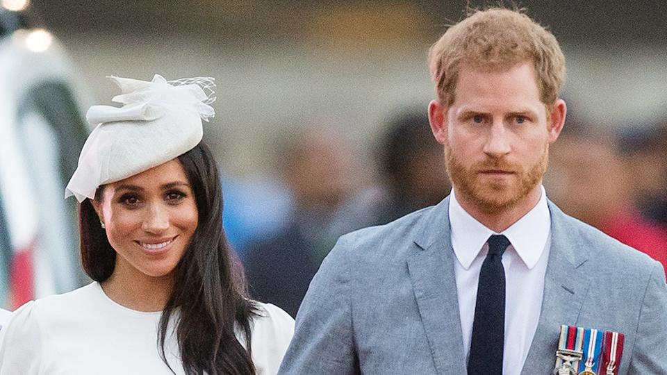 """Prince Harry is reportedly feeling """"tormented by his fractured family ties"""" while wife Meghan Markle is also """"struggling"""" with their new life in LA. Photo: Getty"""