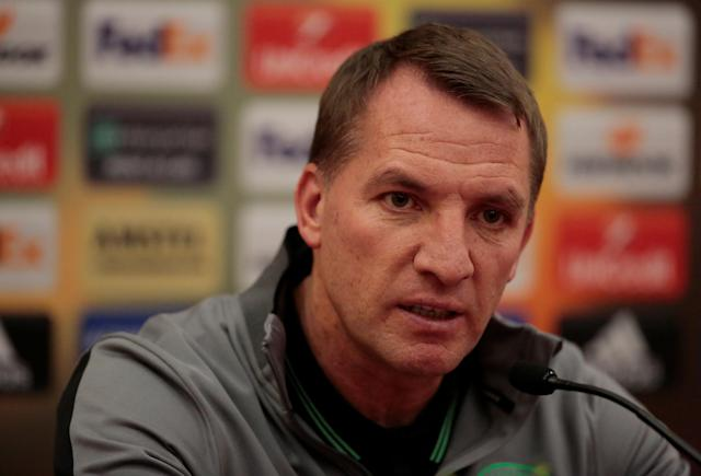 Soccer Football - Europa League - Celtic Press Conference - Saint Petersburg, Russia - February 21, 2018 Celtic manager Brendan Rodgers during the press conference REUTERS/Anton Vaganov