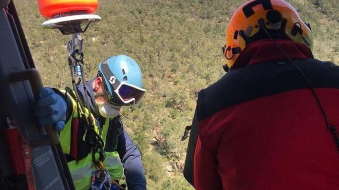 A man was rescued by helicopter after trekking across the Pyrenees to buy cigarettes (PGHM RESCUE SERVICE)