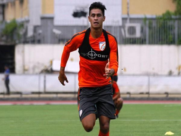 Indian midfielder Eugeneson Lyngdoh (Photo/ Indian Football Team Twitter)